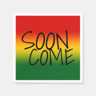 SOON COME - Jamaican Dialect Napkin