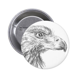 Soon Eagle portrait Button