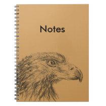 Soon Eagle portrait Notebook