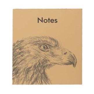 Soon Eagle portrait Notepad