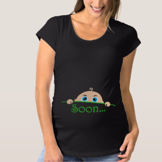 Soon... Maternity T-shirt at Zazzle
