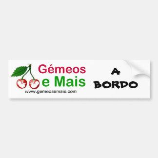 Soon of the Portal, On board, www.gemeosemais.com Car Bumper Sticker