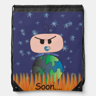 """Soon"" Stringbag - An Angry Baby Design Drawstring Bag"