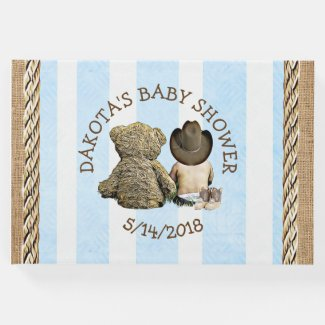 "Soon to b Lil ""Cowboy Baby Shower Guestbook"