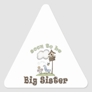 Soon To Be Big Sister Birdhouse Triangle Sticker