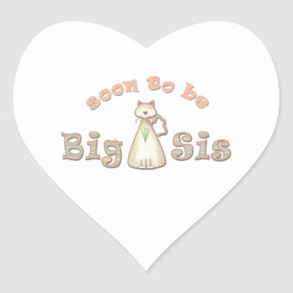 Soon to be Big Sister Cat Heart Sticker