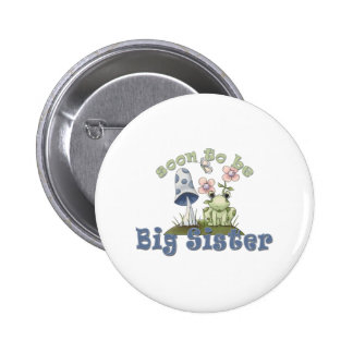 Soon To Be Big Sister Cute Frog 2 Inch Round Button