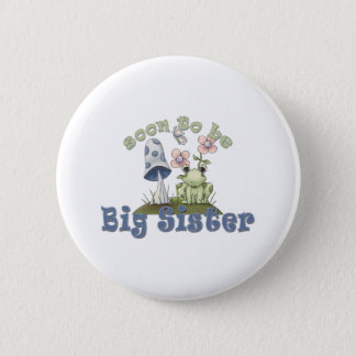 Soon To Be Big Sister Cute Frog Button