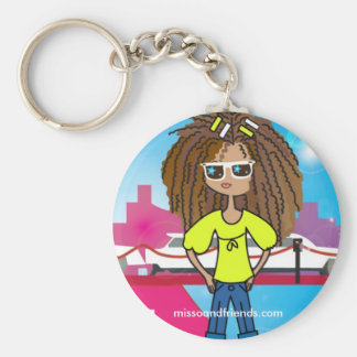 Soon to be famous, Justine Basic Round Button Keychain