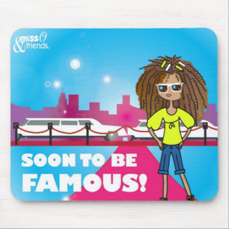 Soon to be famous, Justine Mouse Pads