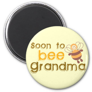 Soon to be Grandma 2 Inch Round Magnet