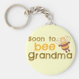 Soon to be Grandma Basic Round Button Keychain