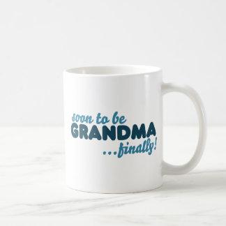 Soon to be Grandma Finally Classic White Coffee Mug