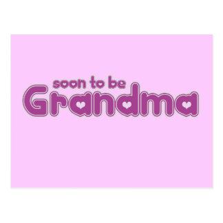 Soon to be Grandma Postcard