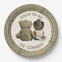 Soon to be Lil' Cowboy Baby Shower Cake Plates