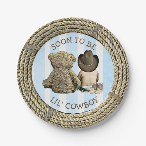 Soon to be Lil Cowboy Baby Shower Cake Plates