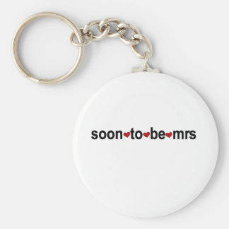 Soon To Be Mrs Basic Round Button Keychain