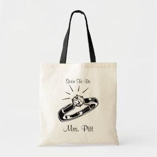 Soon To Be Mrs. Custom Tote Bag