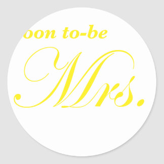 Soon to be Mrs Sticker