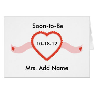 Soon-to-Be Mrs. T-shirts and Gifts Card