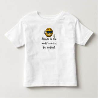 """""""Soon to be the World's Coolest Big Brother!"""" Toddler T-shirt"""