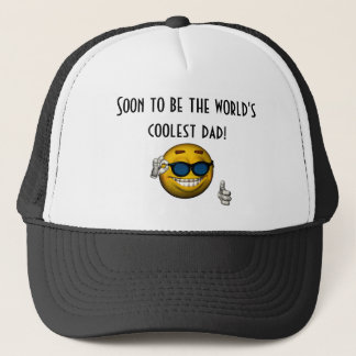 """""""Soon to Be the World's Coolest Dad!"""" Trucker Hat"""