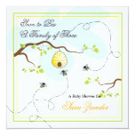 """Soon to Bee Baby Shower Invitation 5.25"""" Square Invitation Card"""