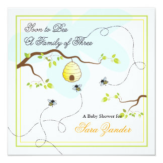 Soon to Bee Baby Shower Invitation