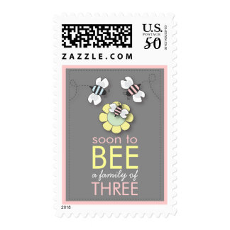 Soon to BEE Family of Three Bumblebee Baby Postage