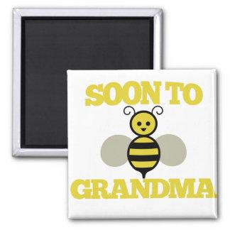 Soon to BEE Grandma Refrigerator Magnet