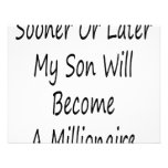 Sooner Or Later My Son Will Become A Millionaire Personalized Invites