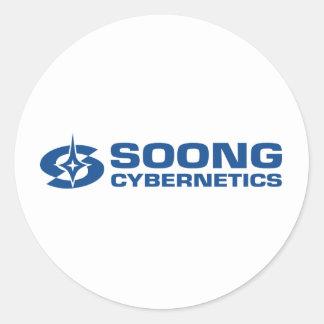 Soong Cybernetics - Noonien Soong Round Sticker