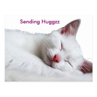sooooooooooooooo soñoliento enviando Huggzz Tarjeta Postal