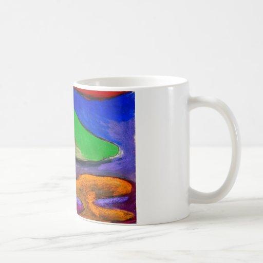 Soothers en colores pastel (expresionismo taza básica blanca