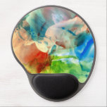 "Soothing Abstract Watercolor Paint Gel Mouse Pad<br><div class=""desc"">This is a gorgeous mess of colors. It can be soothing to break free and just lather on the paint with no order or direction.