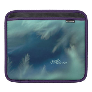 Soothing Aqua Feathers iPad Sleeve