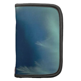 Soothing Aqua Feathers Folio Planners