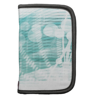 Soothing Aquatic Coral Blue Sea Folio Planners