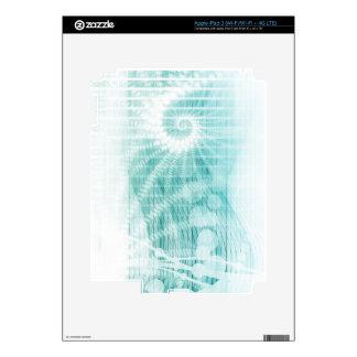Soothing Aquatic Coral Blue Sea iPad 3 Decals