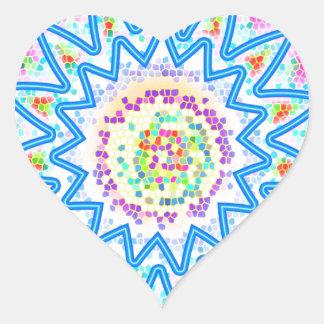 Soothing BlueStar Art : Buy the art you love Heart Sticker