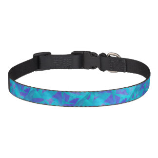 Soothing Colors Digital Abstract Dog Collars