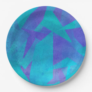 Soothing Colors Digital Abstract Paper Plate