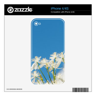 Soothing flower photography skin decals for iPhone 4