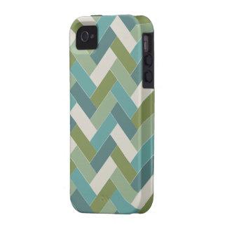 soothing green herringbone case Case-Mate iPhone 4 cases