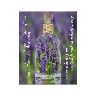 Soothing Lavender Flowers Poetry Canvas Print