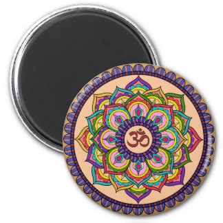 Soothing Om Round Magnet