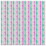 Soothing Rose and Green Wiggly Stripes Fabric