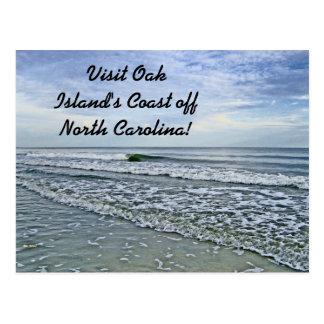 Soothing Tides Along Carolinas Seashore Postcard