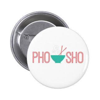 Sopa de fideos del vietnamita de Pho Sho Pin Redondo De 2 Pulgadas