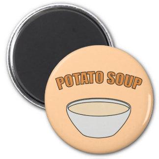 Sopa de patata imanes para frigoríficos